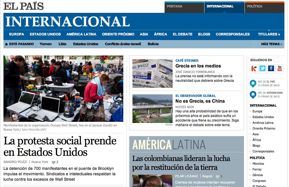 Internacional la relanzada Sección/Micromedio de El País