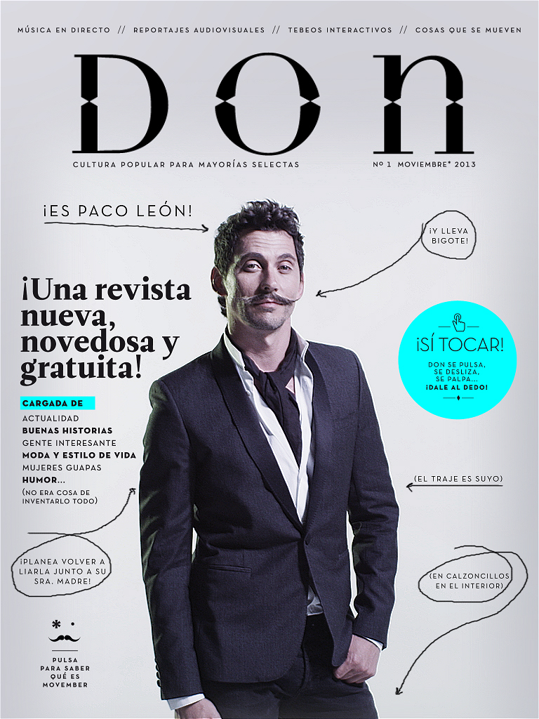 Nueva Revista Don para iPad noviembre Paco León